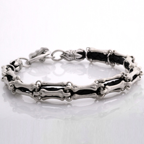 본 가죽팔찌  bone leather bracelet